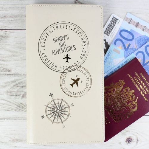 Personalised Travel Stamp Travel Document Holder